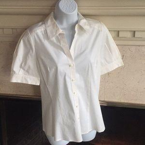 🌈Ann Taylor Short Sleeve Button Down Shirt Size 4